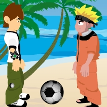 Naruto and Ben 10 Ball